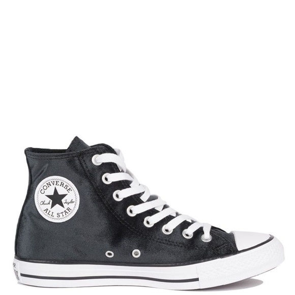converse Shoes | Nwt Black Velvet High